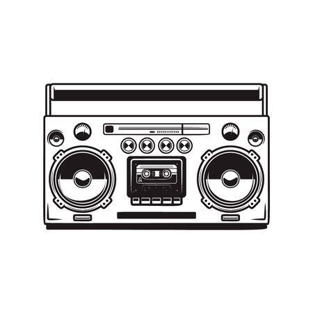 boombox cassette players. Vectores