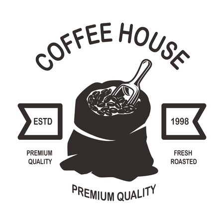 Coffee house emblem template.