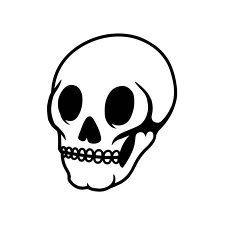 human skull on light background. Ilustracja