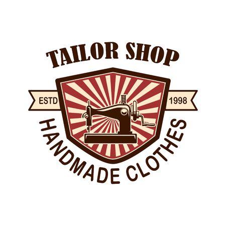Tailor shop emblem template.