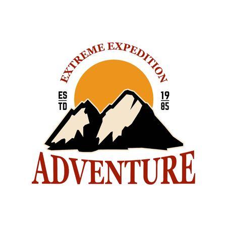 Mountain camp emblem template.