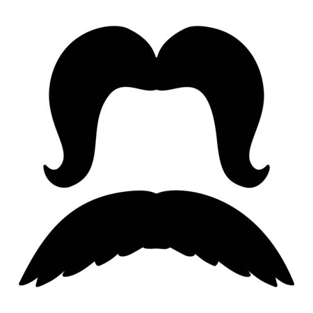 Set of illustrations of mustaches.