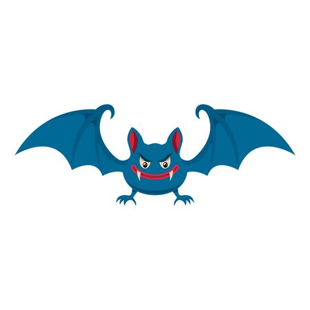 Cartoon halloween bat. Design element for poster, card, banner, flyer. Vector illustration