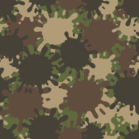 Camouflage pattern. Design element for poster, clothes decoration, card, banner. Vector illustration