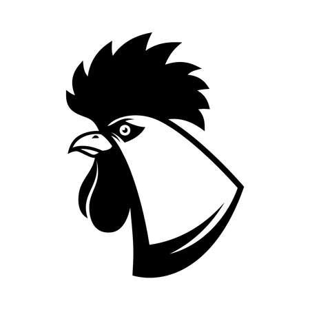 Illustration of rooster head in engraving style. Design element for label, emblem, sign. Vector illustration 免版税图像 - 151388525
