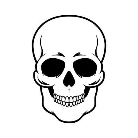 Illustration of skull. Design element for   emblem, sign, poster, card, banner. Vector illustration 矢量图像