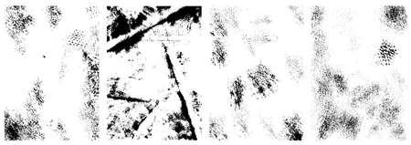 Set of vintage grunge textures. Design element for poster, card, banner. Vector illustration