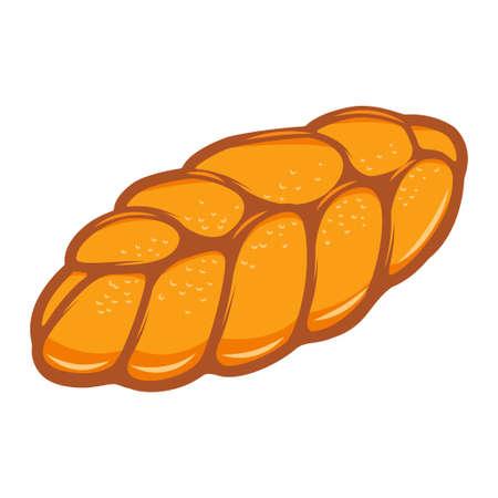 Illustration of french bread. Design element for poster, card, banner, menu. Vector illustration