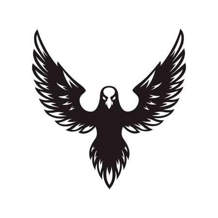 Eagle icon isolated on white background. Design element for label, sign. Vector illustration Vektorgrafik