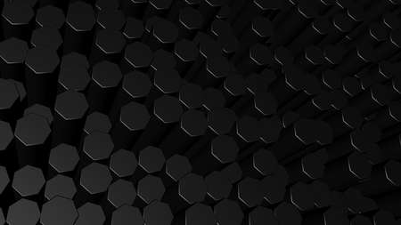 3d style background from hexagons Imagens