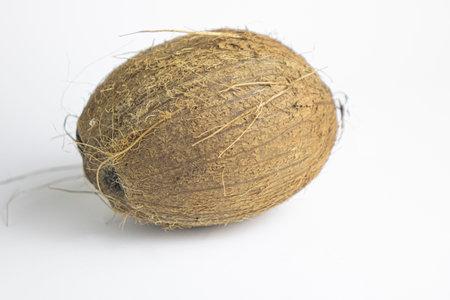 Coconut nut isolated on white background