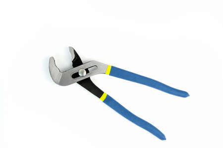Adjustable wrench on white background Imagens