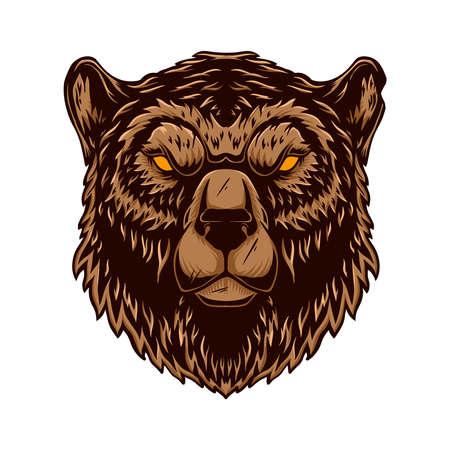 Bear head illustration.