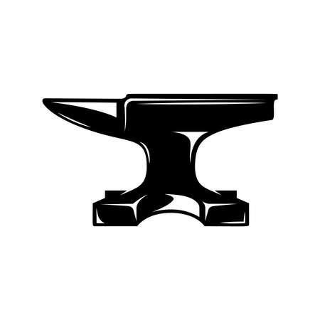 Illustration of blacksmith anvil isolated on white background. Design element for poster, card, banner, sign. Vector illustration Illustration