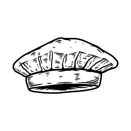 Illustration of chef hat. Design element for  label, sign, emblem, poster. Vector illustration Illustration