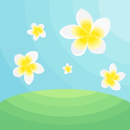 Frangipani Flower design template Фото со стока - 99566020