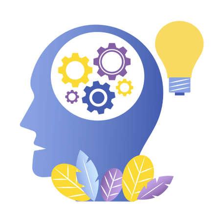 Idea concept vector design. Idea light bulb concept. Thought process, thinking, education, making decisions motion graphics concept.