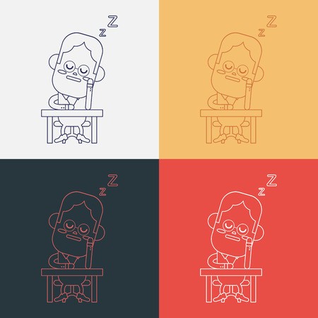 dozing: Character illustration design. Businessman dozing cartoon,eps