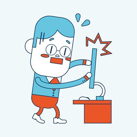 Character illustration design. cartoon,eps Vector