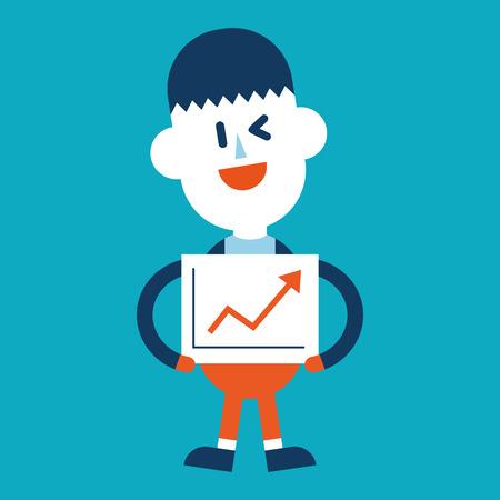 delivering: Character illustration design. Businessman delivering the speech cartoon,eps Illustration