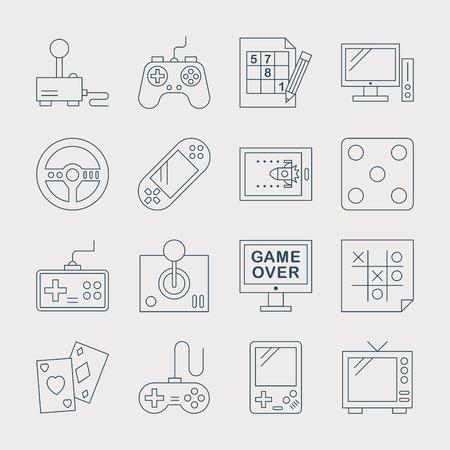 jeu de carte: Jeu icône de la ligne ensemble