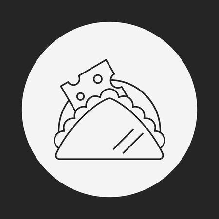 postre: icono de l�nea postre Vectores