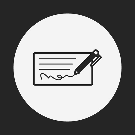 chequebook: money check icon
