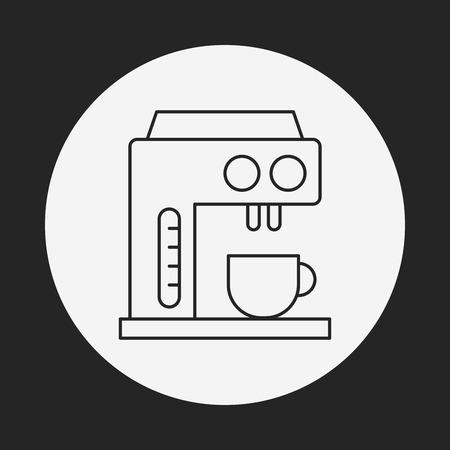 메이커: coffee maker line icon