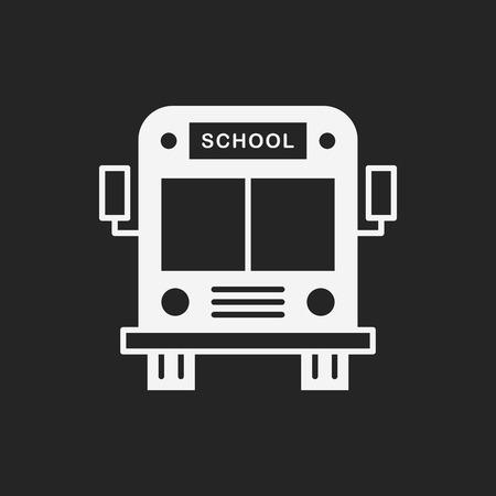 transporte escolar: icono de autob�s escolar