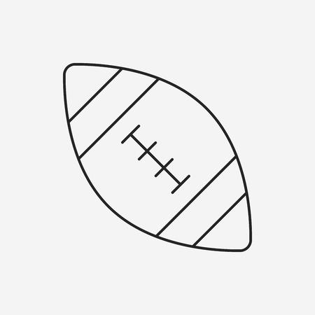 american football line icon Vector