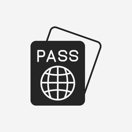 emigration: passport icon Illustration