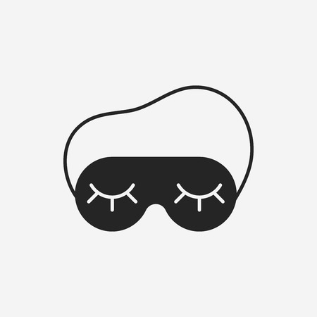 black mask: eye mask icon
