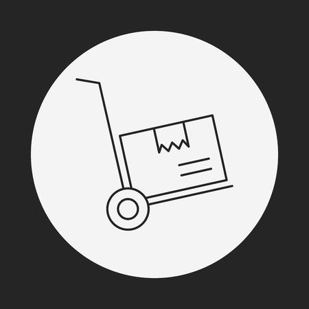 barrow: barrow line icon Illustration