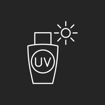 moisturizer: sunscreen line icon Illustration