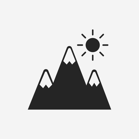 mountain icon Vectores