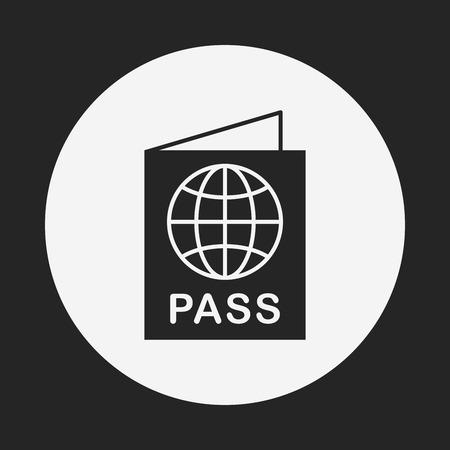 citizenship: passport icon Illustration