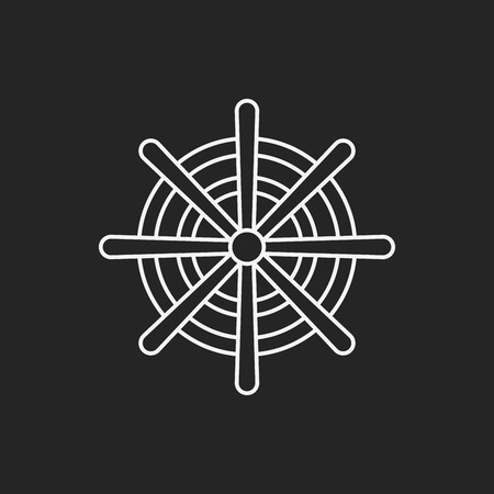 Rudder line icon 向量圖像