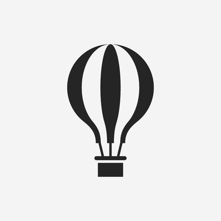 뜨거운 공기 풍선 아이콘 일러스트