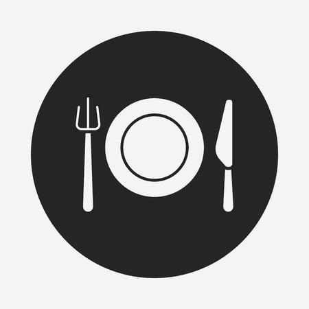 tableware icon Illustration