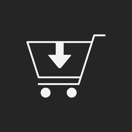 shopping baskets: shopping cart icon