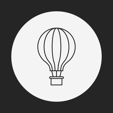 hot air balloon line icon