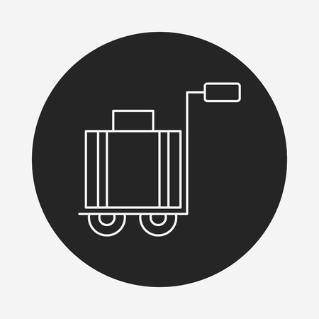 trolley: suitcase trolley line icon
