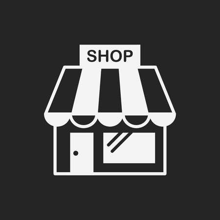 web store: shopping store icon Illustration