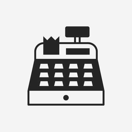 cash machine: Cash register icon