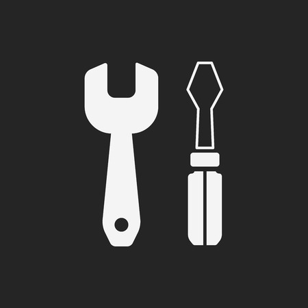 Screwdrivers and wrench icon