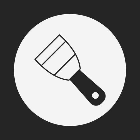 digging: shovel icon Illustration