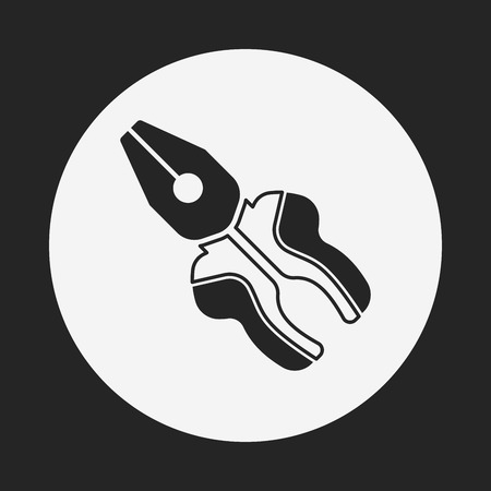 pliers: Pliers icon Illustration