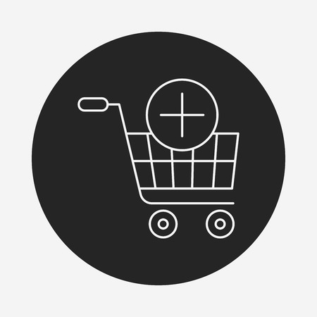 shopping cart icon: shopping cart line icon