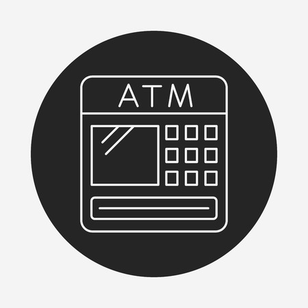 withdraw: ATM line icon