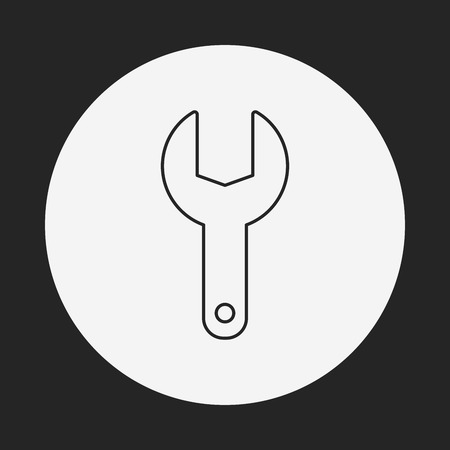 screwdrivers: Screwdrivers line icon Illustration